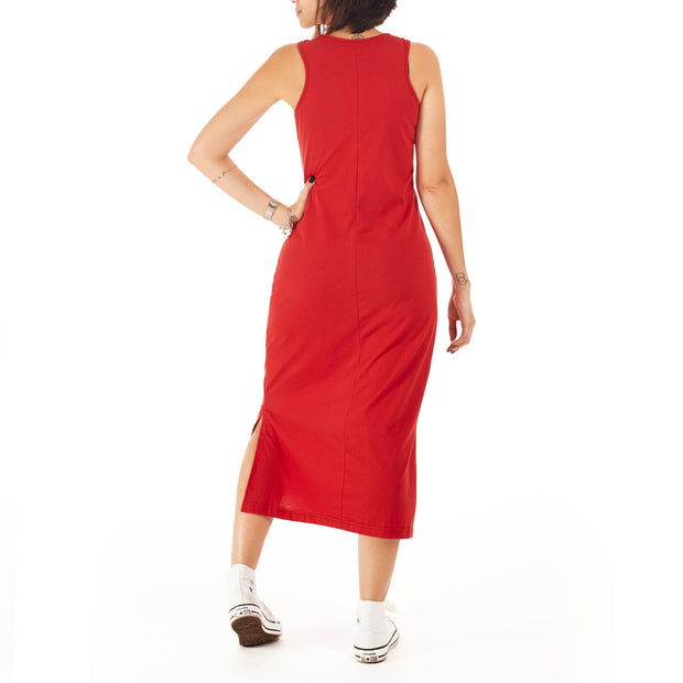 Recycled Polyester (PET) Midi Dress - Branch