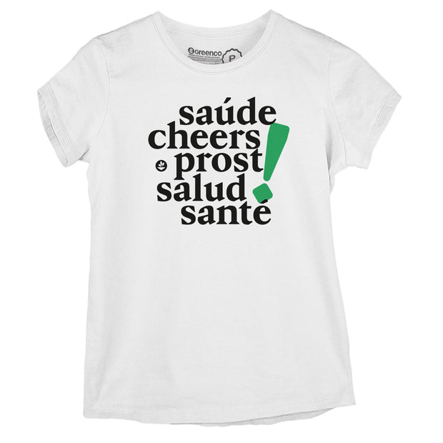 Sustainable Cotton Women's T-Shirt - Cheers!