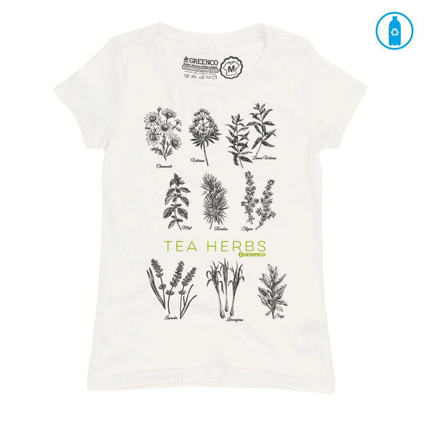 Recycled Polyester (PET) Women's T-Shirt - Tea Herbs