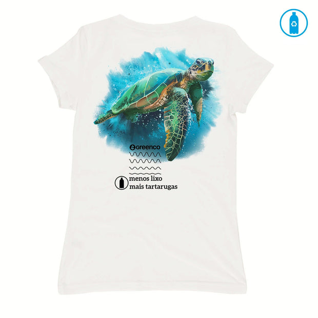 Recycled Polyester (PET) Women's T-Shirt - Turtle
