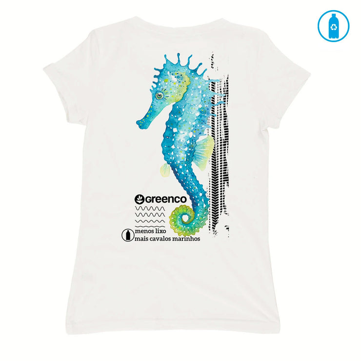 Recycled Polyester (PET) Women's T-Shirt - Seahorse