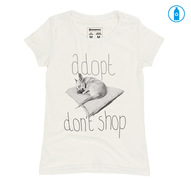 Recycled Polyester (PET) Women's T-Shirt - Adopt Don't Shop - RK