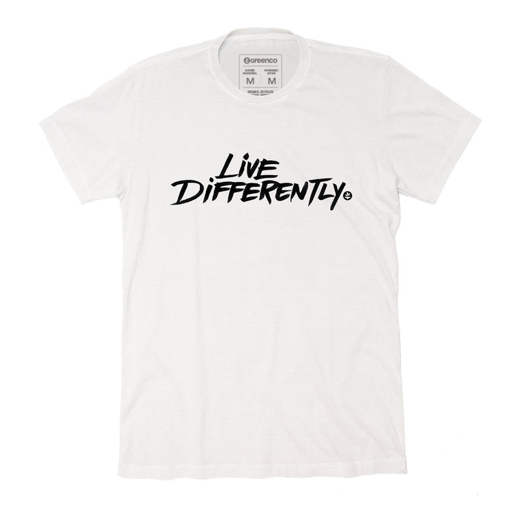 Sustainable Cotton Men's T-Shirt - Live Differently