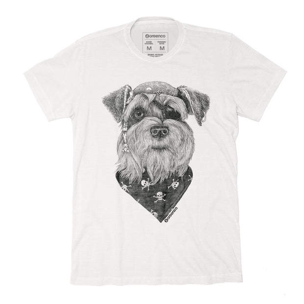Sustainable Cotton Men's T-Shirt - Pirate Schnauzer - RK