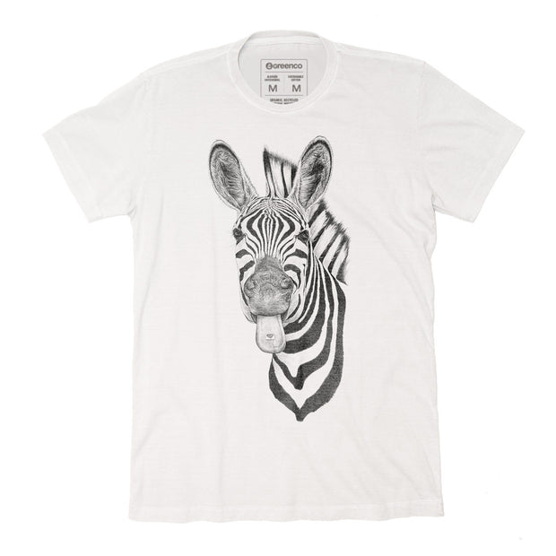 Sustainable Cotton Men's T-Shirt - Zebra Love - RK