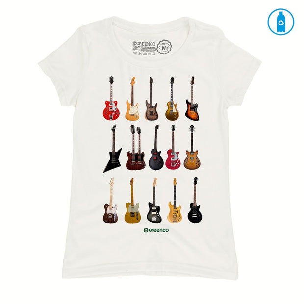 Recycled Polyester (PET) Women's T-Shirt - Guitar Types