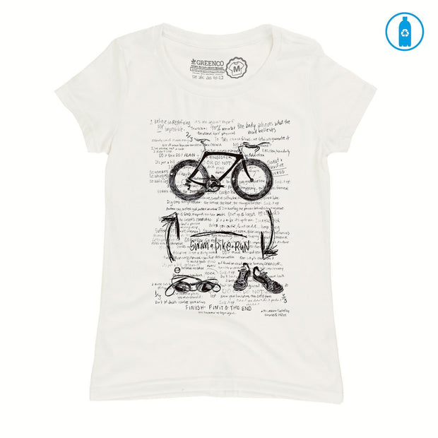 Recycled Polyester (PET) Women's T-Shirt - Triathlon