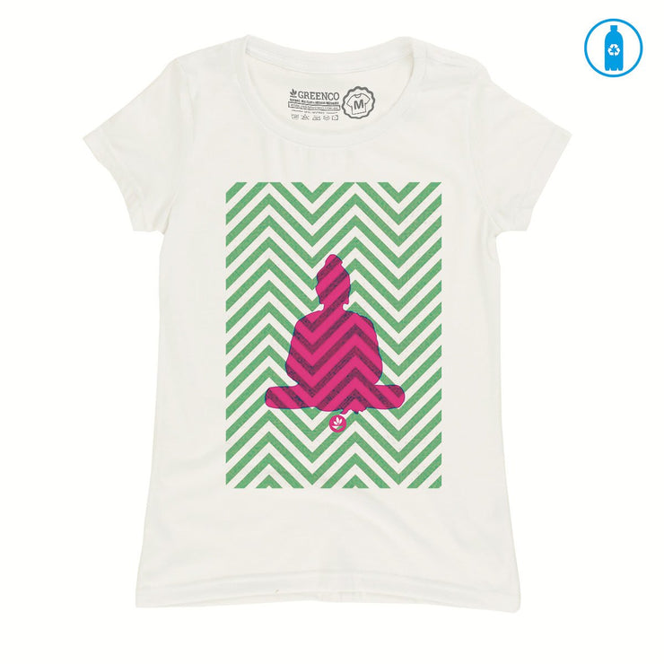 Recycled Polyester (PET) Women's T-Shirt - Meditation
