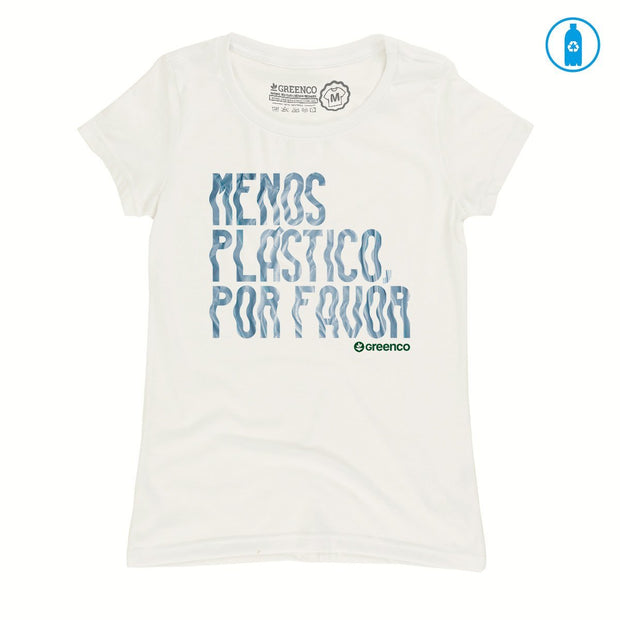 Recycled Polyester (PET) Women's T-Shirt - Menos Plástico Por Favor