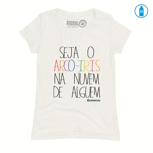 Recycled Polyester (PET) Women's T-Shirt - Seja O Arco-Iris