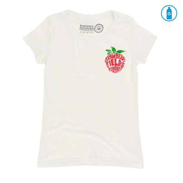 Recycled Polyester (PET) Women's T-Shirt - Strawberry Fields Forever