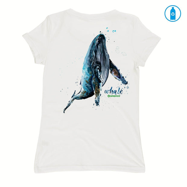 Recycled Polyester (PET) Women's T-Shirt - Humpback Whale