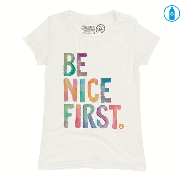 Recycled Polyester (PET) Women's T-Shirt - Be Nice First