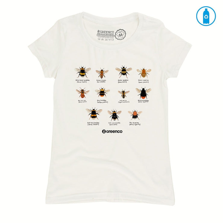Recycled Polyester (PET) Women's T-Shirt - Bees