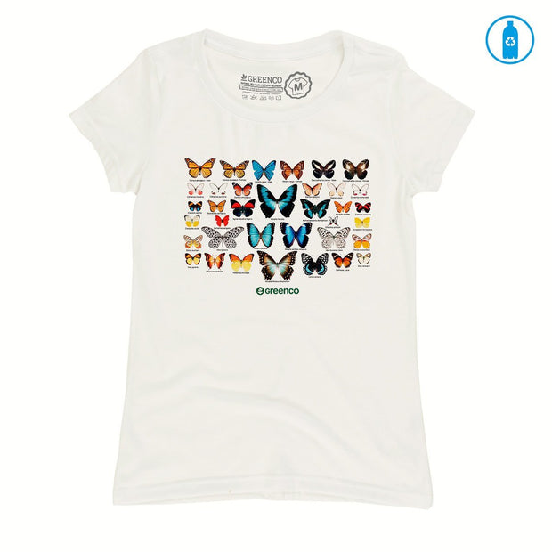 Recycled Polyester (PET) Women's T-Shirt - Butterflies