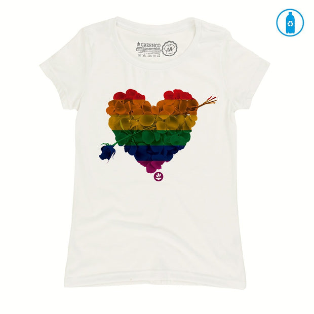 Recycled Polyester (PET) Women's T-Shirt - Heart