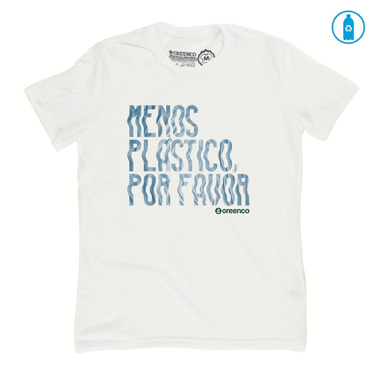 Recycled Polyester (PET) Men's T-Shirt - Menos Plástico Por Favor