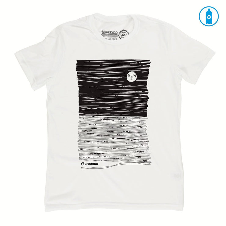Recycled Polyester (PET) Men's T-Shirt - Moon Eyes