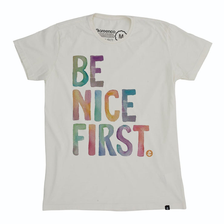 Organic Cotton Men's T-Shirt - Be Nice First