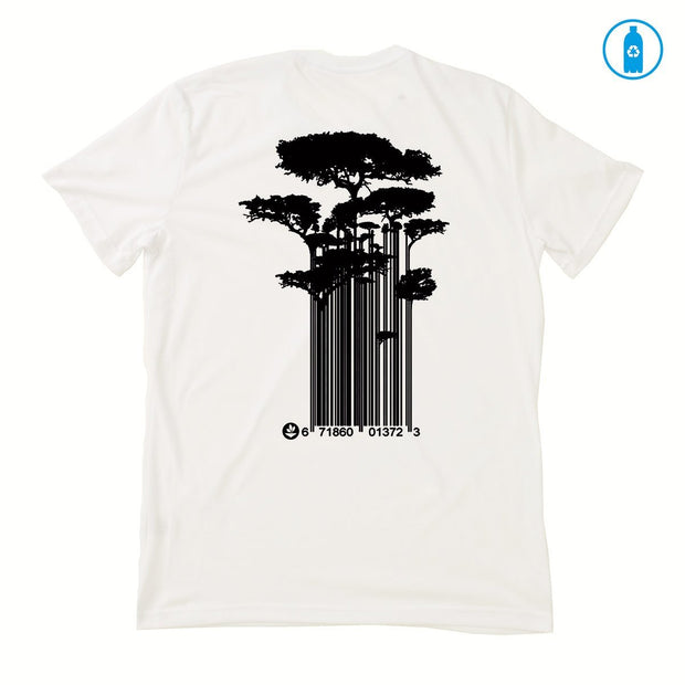 Recycled Polyester (PET) Men's T-Shirt - Tree Code