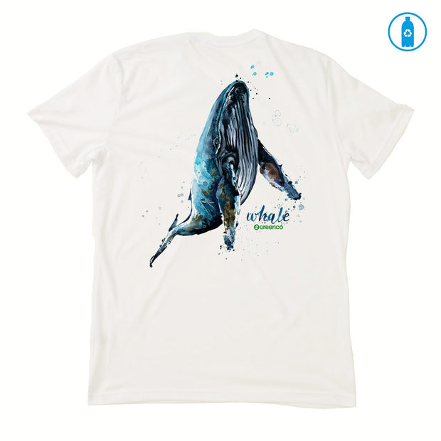 Recycled Polyester (PET) Men's T-Shirt - Humpback Whale