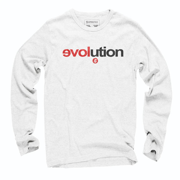 Sustainable Cotton Long Sleeve T-Shirt - Evolution
