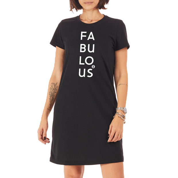 Recycled Polyester (PET) T-Shirt Dress - Fabulous