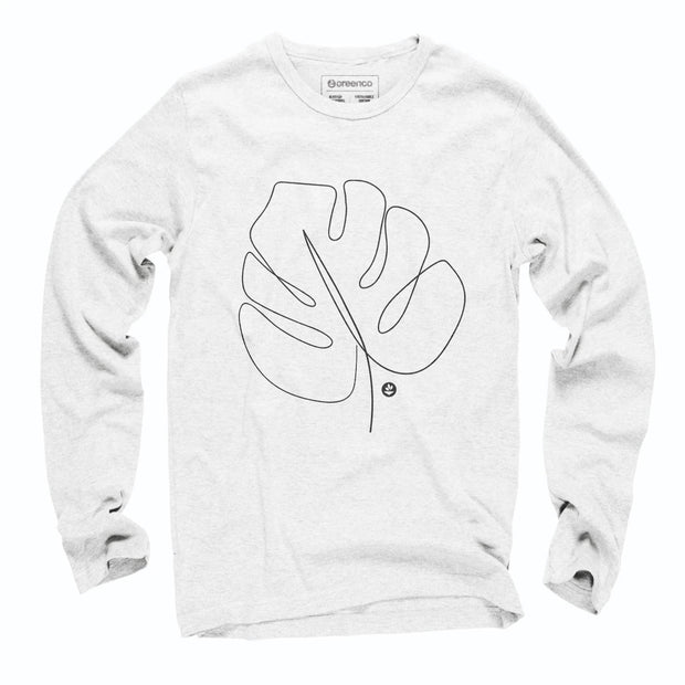 Sustainable Cotton Long Sleeve T-Shirt - Folha Costela