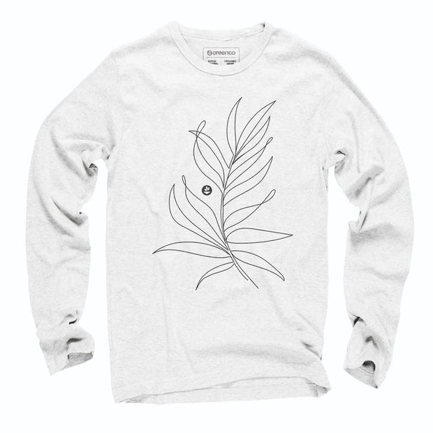 Sustainable Cotton Long Sleeve T-Shirt - Folha Samambaia