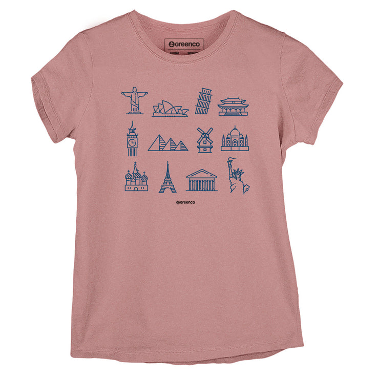 Sustainable Cotton Women's T-Shirt - World Places