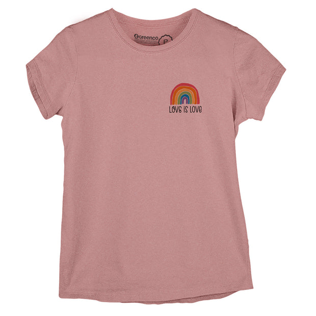 Sustainable Cotton Women's T-Shirt - Love is Love Minimal