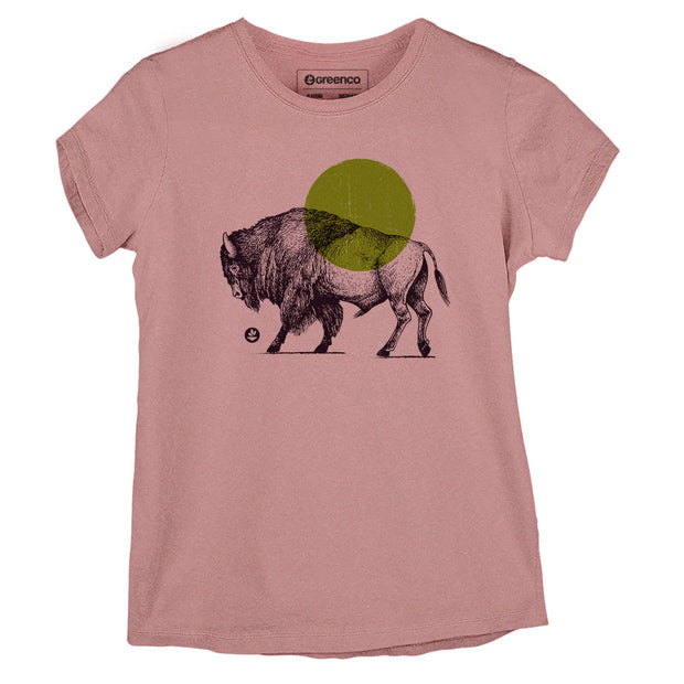 Sustainable Cotton Women's T-Shirt - Bison