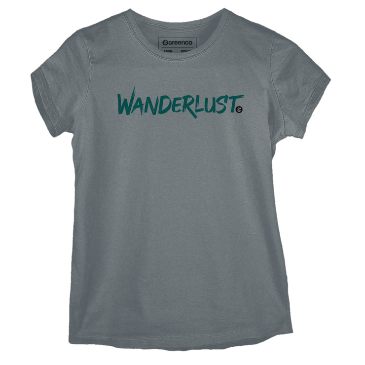 Sustainable Cotton Women's T-Shirt - Wanderlust Brush