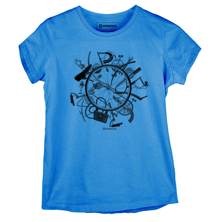 Sustainable Cotton Women's T-Shirt - I Love Bike