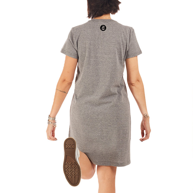 Recycled Polyester (PET) T-Shirt Dress - Garden