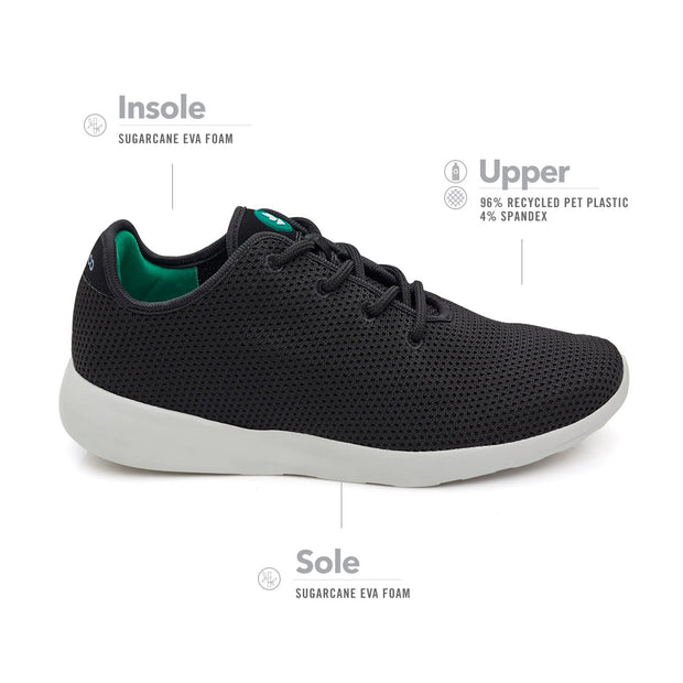 Men's Greenco Mediterranean Sea Sneakers - Black