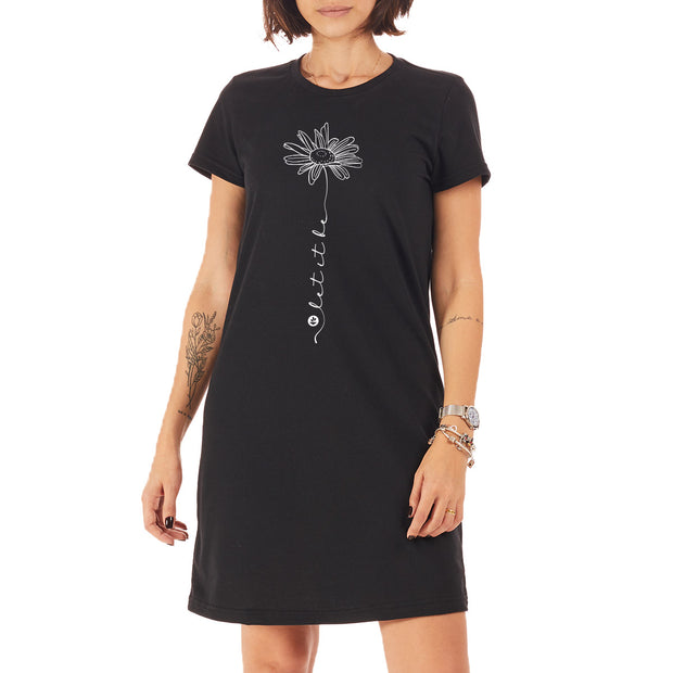 Recycled Polyester (PET) T-Shirt Dress - Let it be
