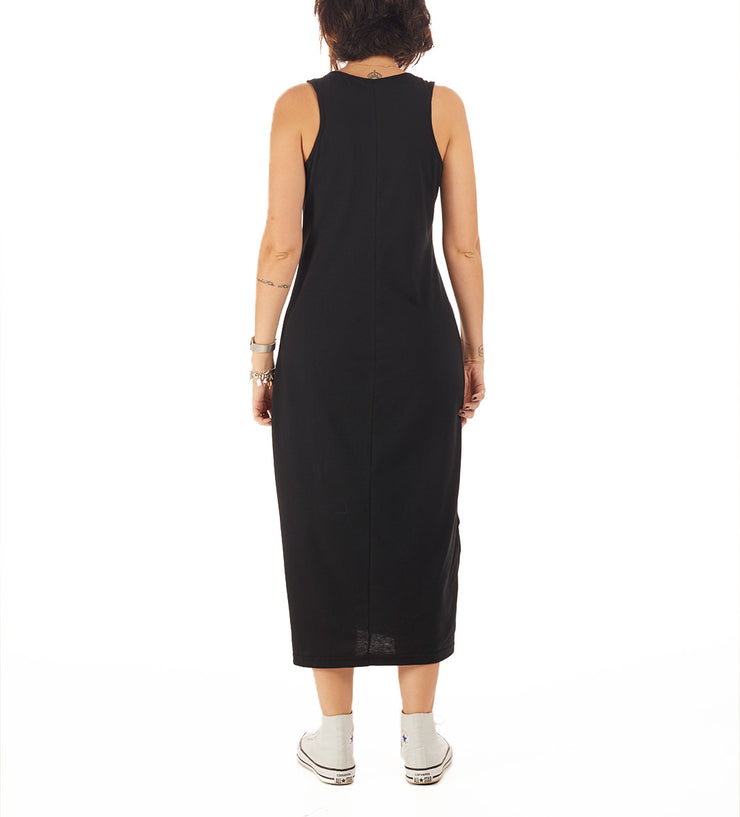 Recycled Polyester (PET) Midi Dress - Livre, feliz & sorora