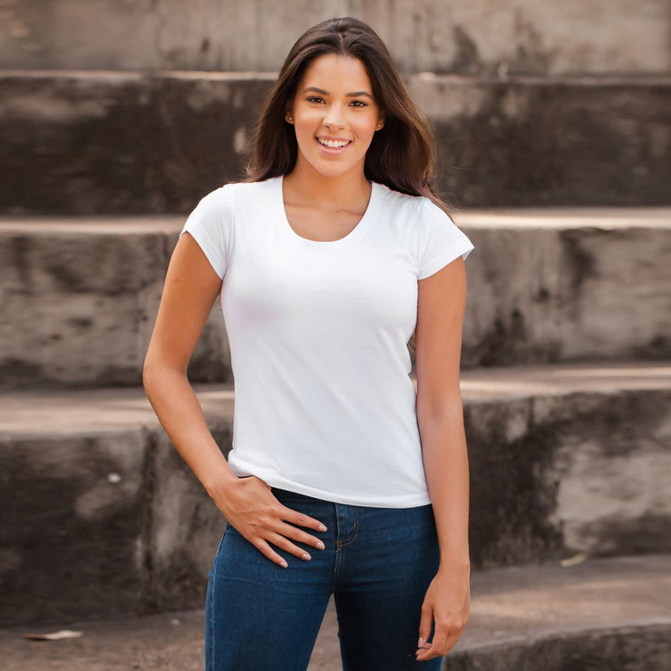 Sustainable Cotton Women's T-Shirt - Blank - White