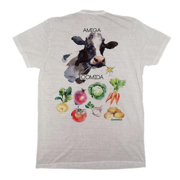 Sustainable Cotton Men's T-Shirt - Friendly Cow