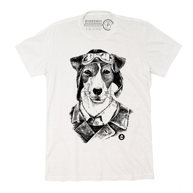 Sustainable Cotton Men's T-Shirt - Vegan Dog