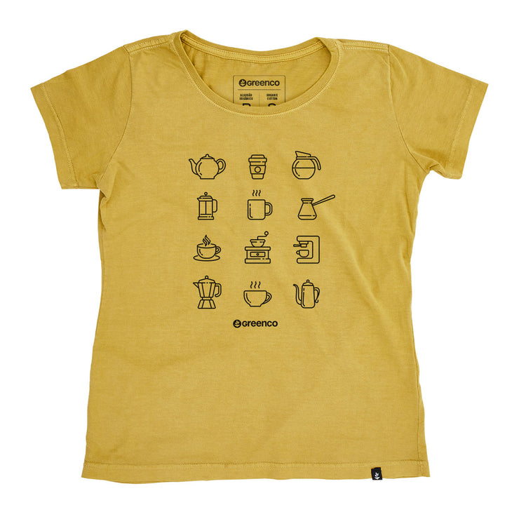 Organic Cotton Women's T-Shirt - Coffee Lovers