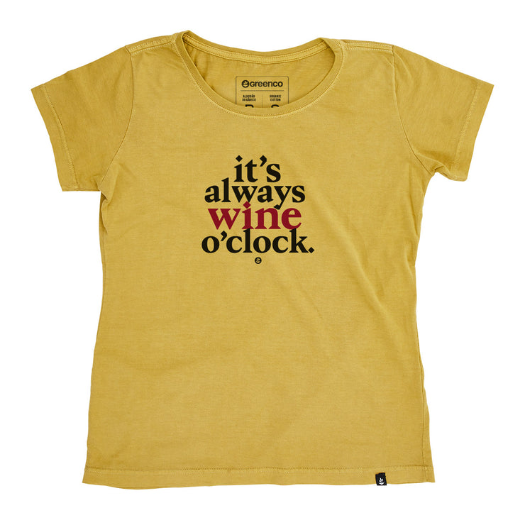 Organic Cotton Women's T-Shirt - Wine O Clock