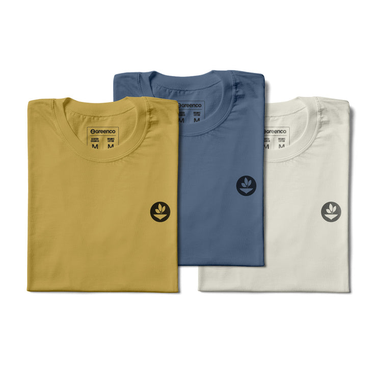 Basic Men's Kit Organic Cotton - 3 t-shirts