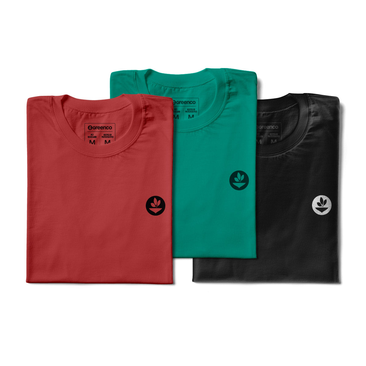 Basic Men's Kit Recycled Polyester (PET) - 3 t-shirts