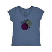 Comfort Cotton Women's V-neck T-shirt - Corkscrew