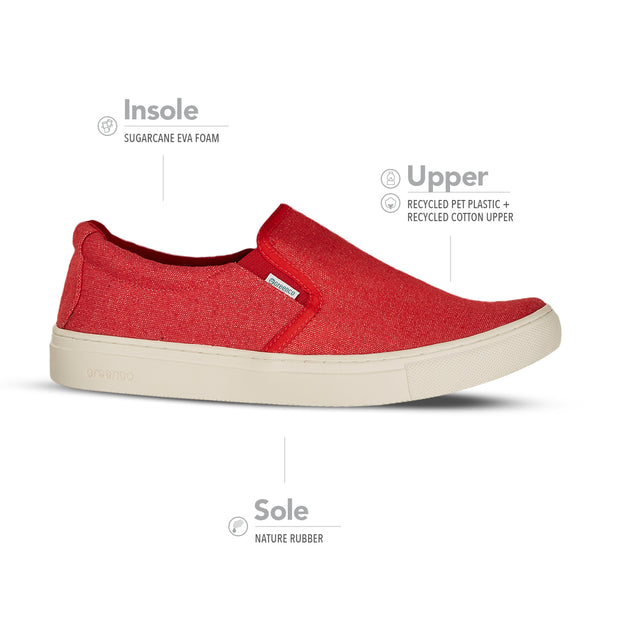 Men's Greenco Caribbean Sneakers - Red
