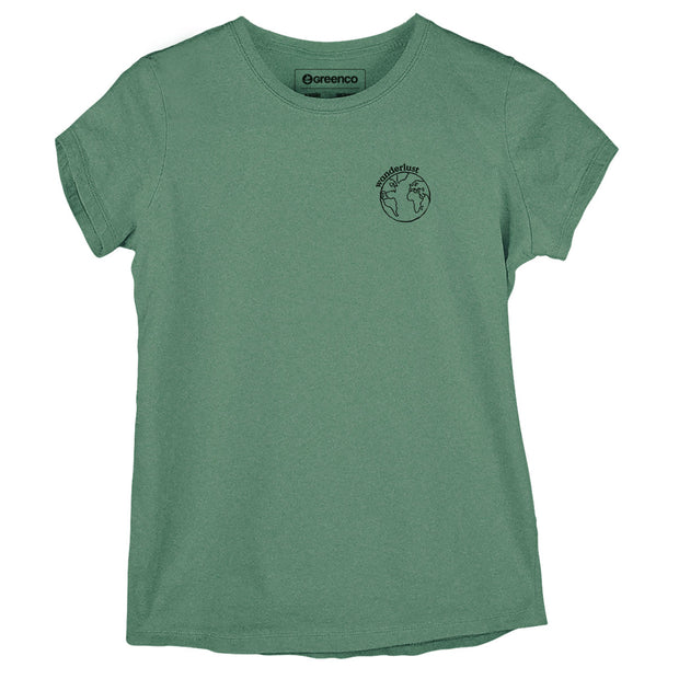Sustainable Cotton Women's T-Shirt - Wanderlust Globe