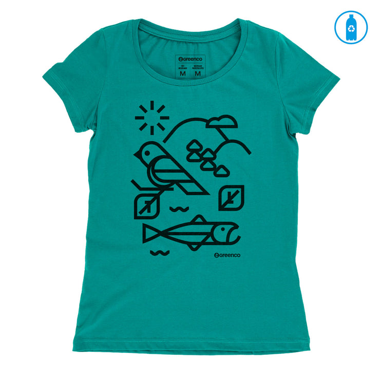 Recycled Polyester (PET) Women's T-Shirt - Habitat