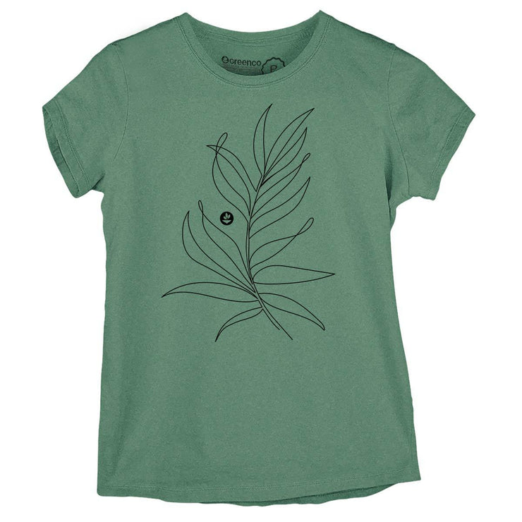 Sustainable Cotton Women's T-Shirt - Fern Leaf